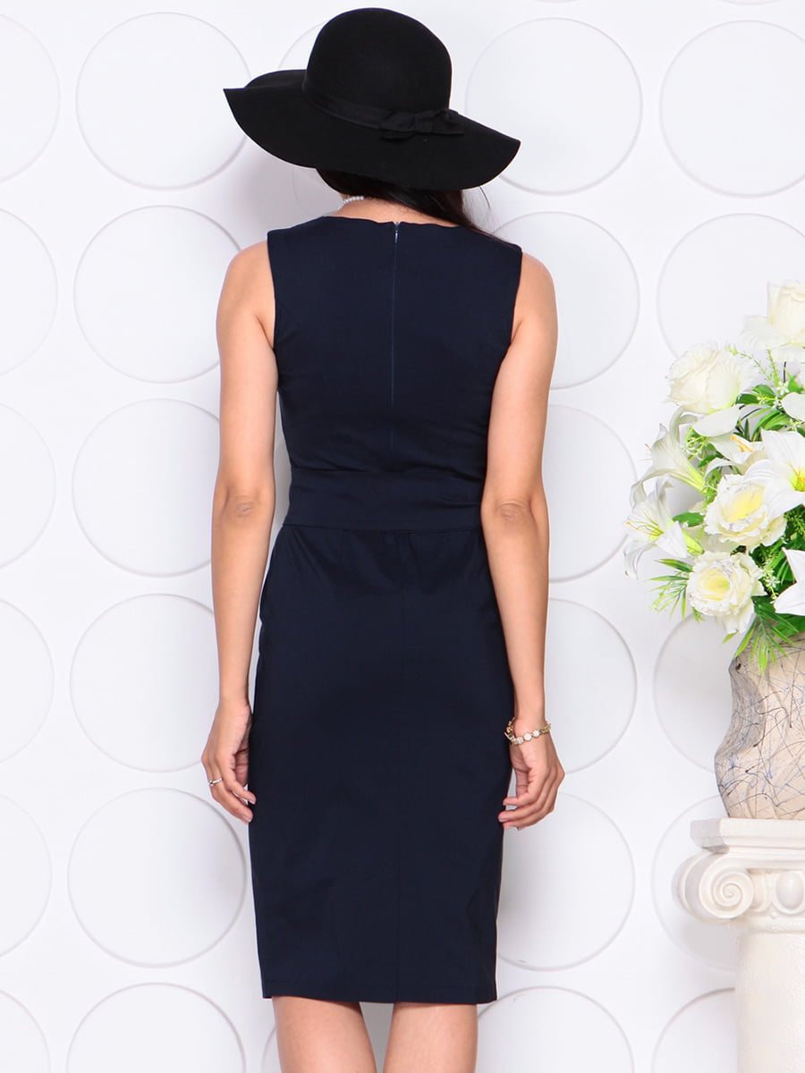 Платье темно-синее | 4353870 | фото 2