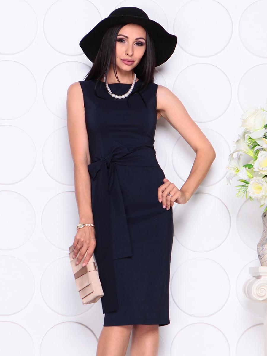Платье темно-синее | 4353870 | фото 3