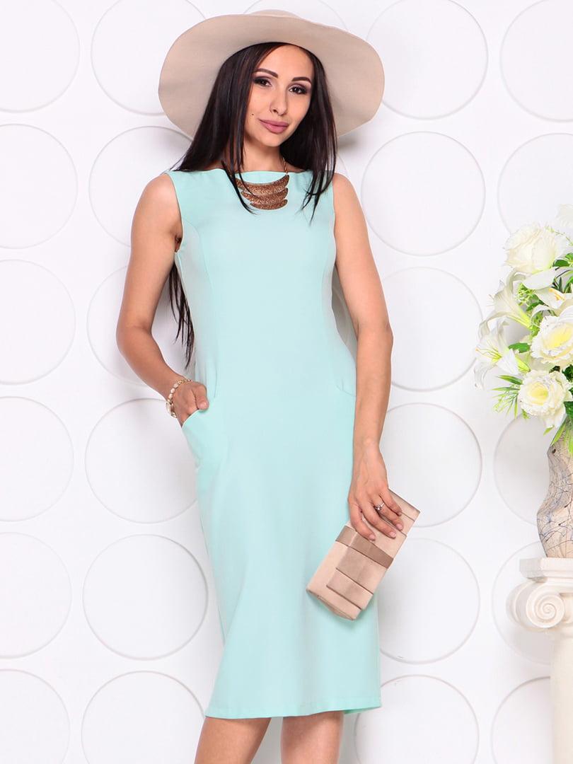 Платье светло-ментолового цвета | 4353911