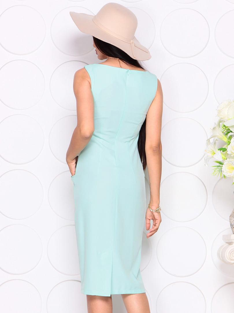 Платье светло-ментолового цвета | 4353911 | фото 2