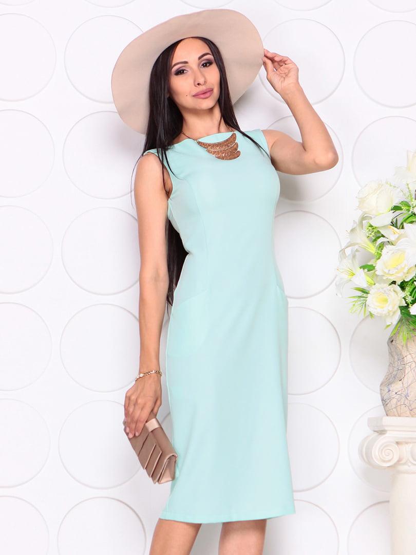 Платье светло-ментолового цвета | 4353911 | фото 3