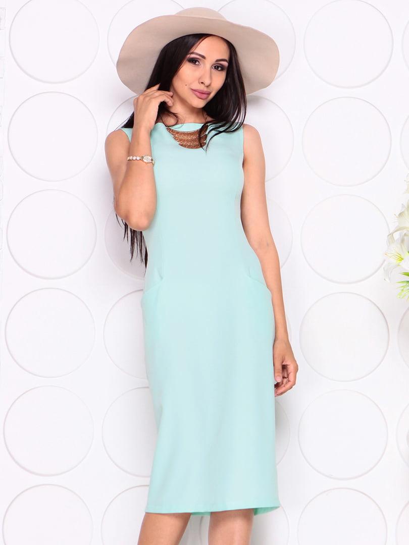 Платье светло-ментолового цвета | 4353911 | фото 4