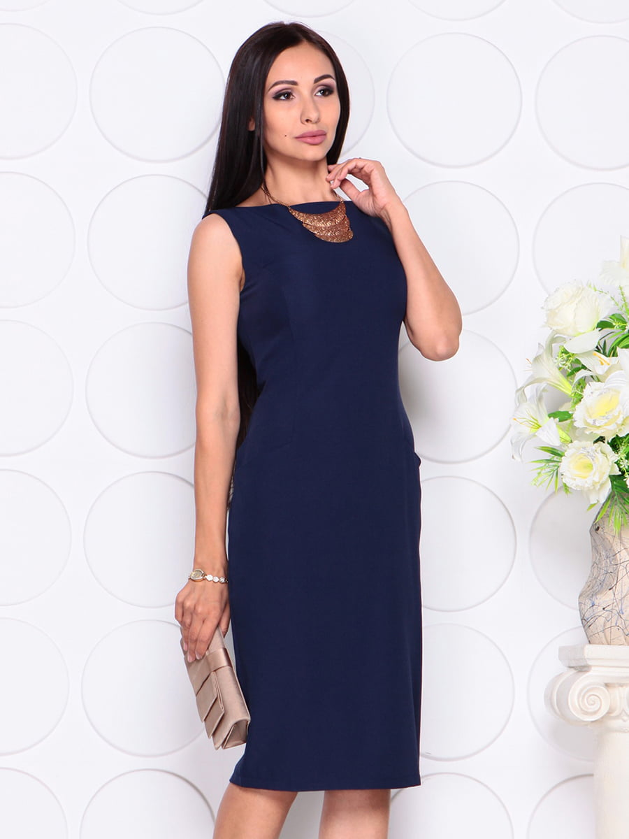 Платье темно-синее | 4353921 | фото 3