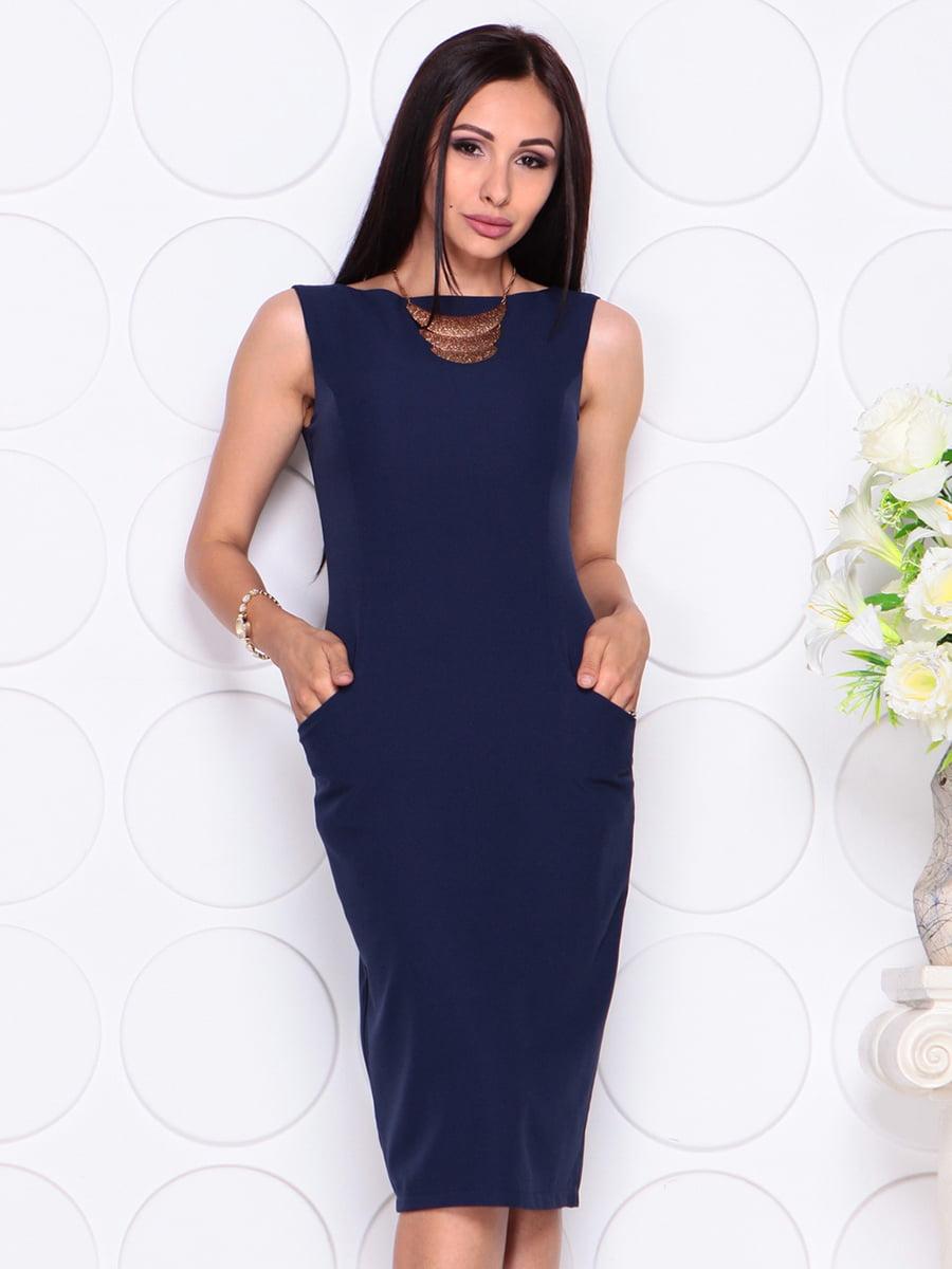Платье темно-синее | 4353921 | фото 4