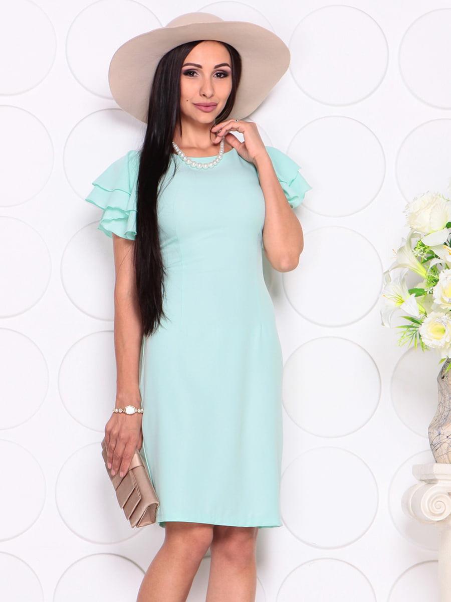 Платье светло-ментолового цвета | 4353985
