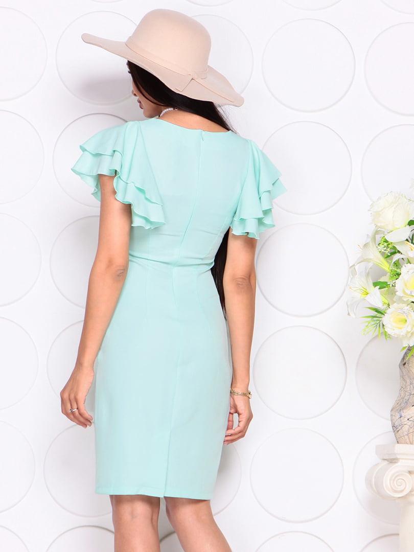 Платье светло-ментолового цвета | 4353985 | фото 2