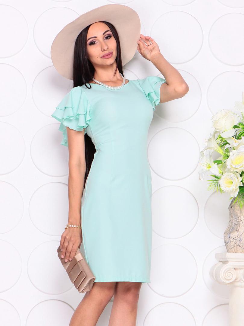 Платье светло-ментолового цвета | 4353985 | фото 3