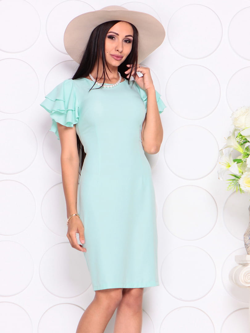 Платье светло-ментолового цвета | 4353985 | фото 4