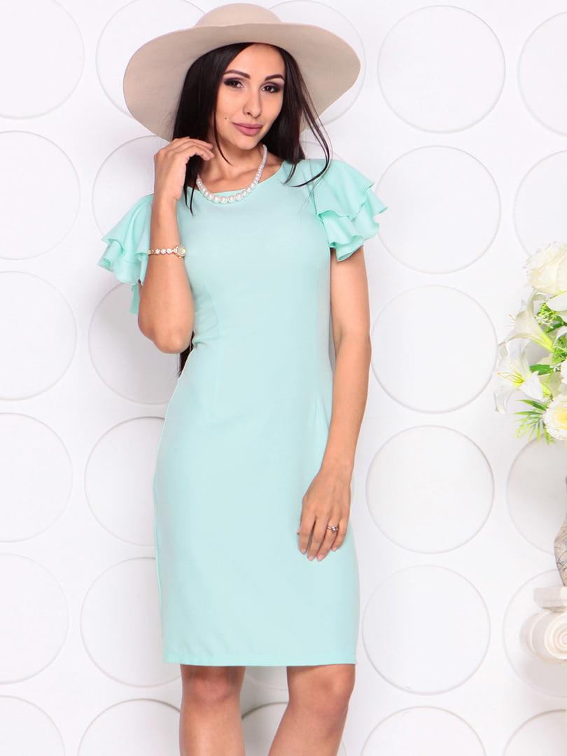 Платье светло-ментолового цвета | 4353985 | фото 5