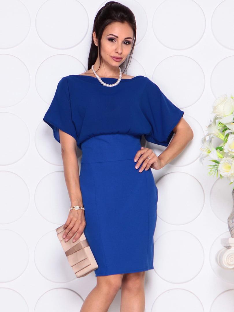 Платье цвета электрик   4354000