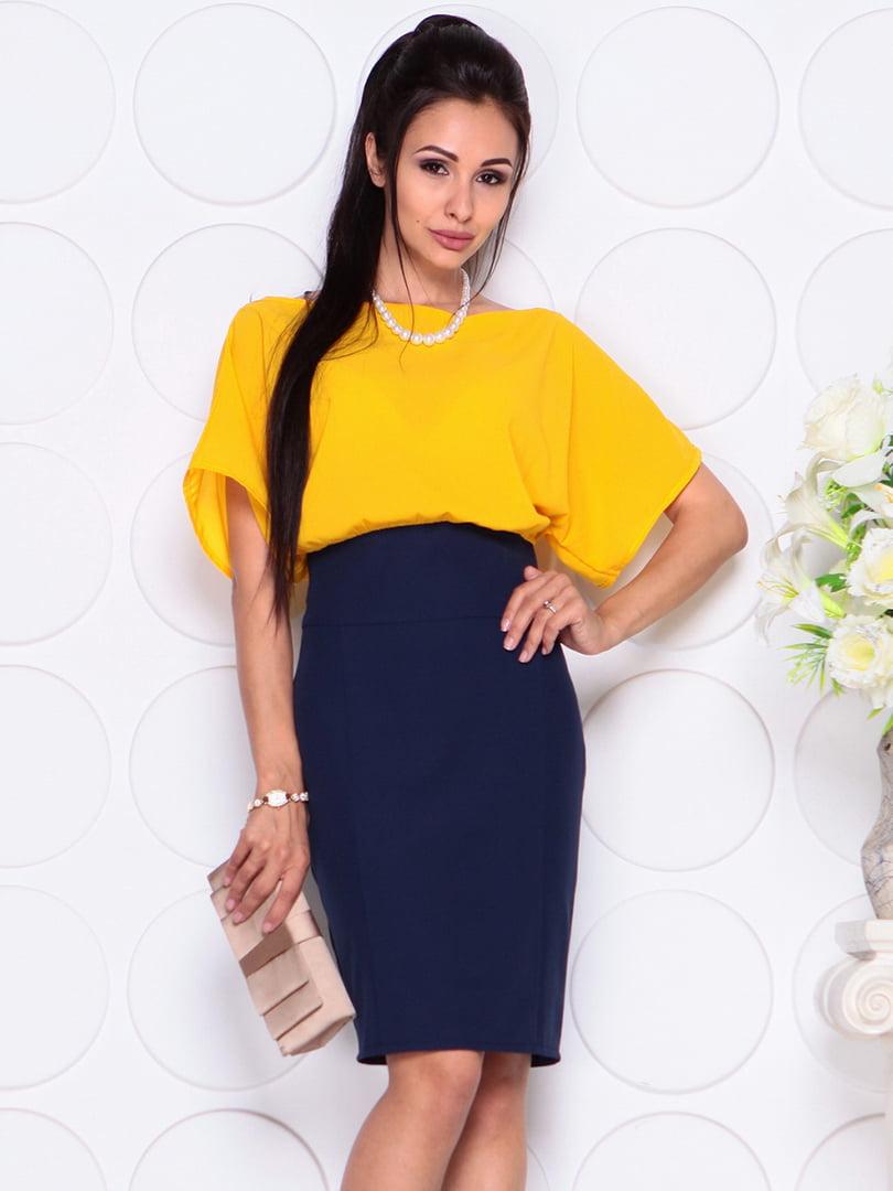 Платье желто-синее | 4354005