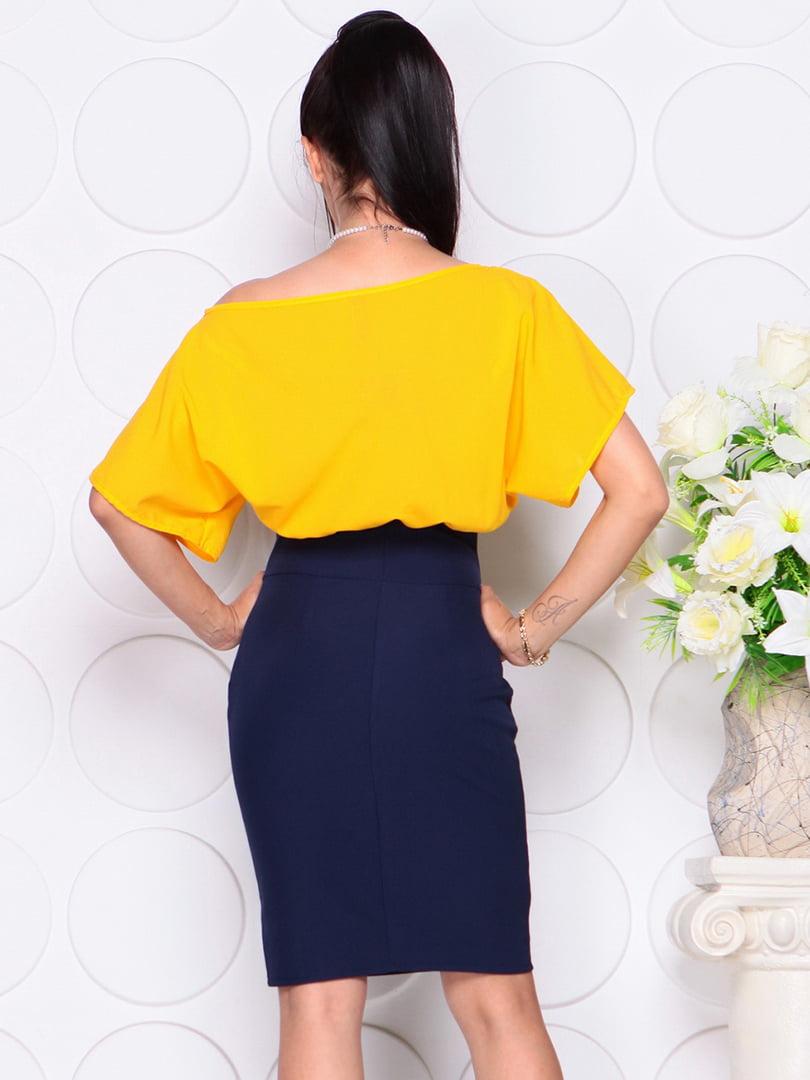 Платье желто-синее | 4354005 | фото 2