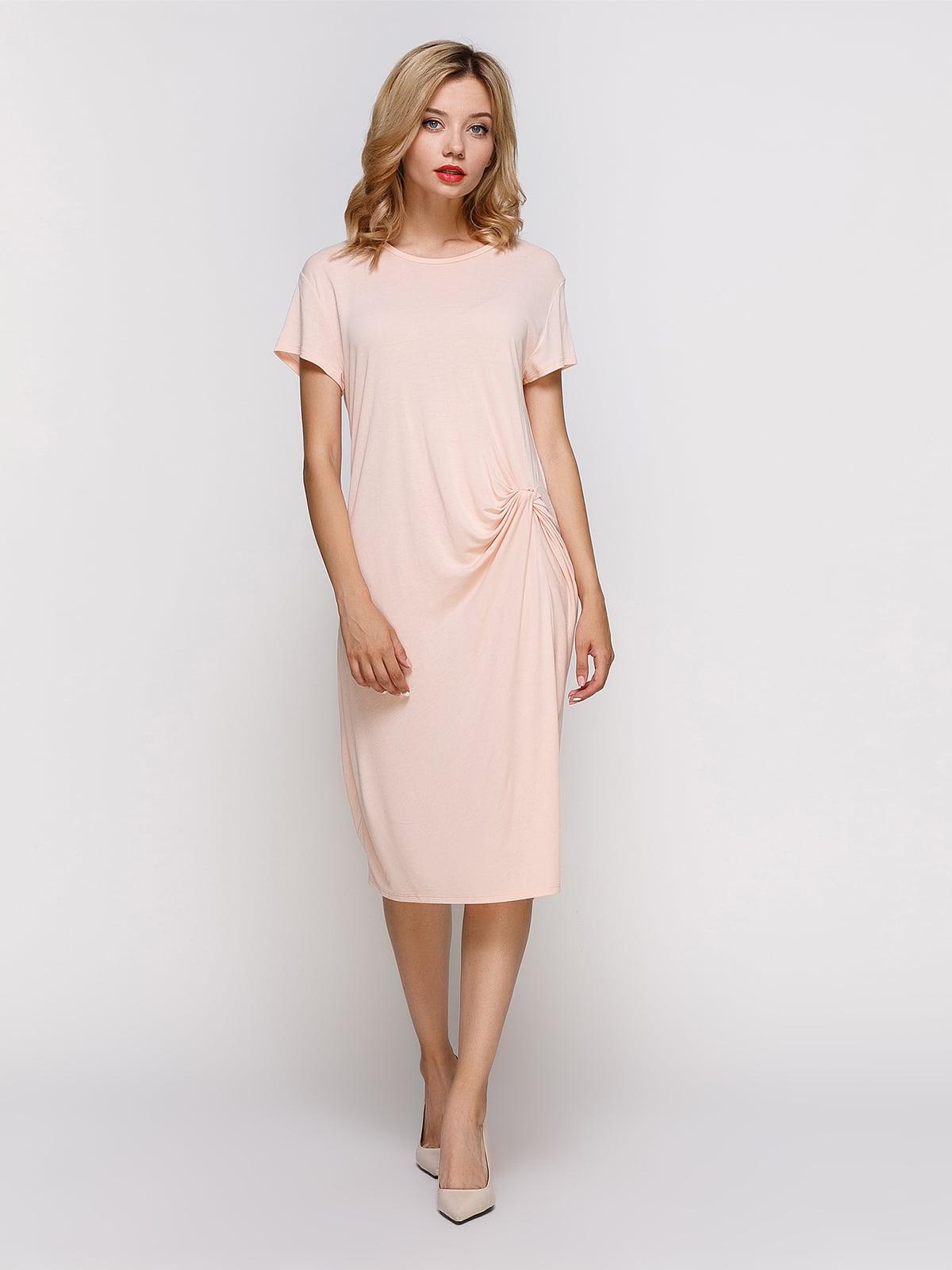 Платье персикового цвета | 4339026