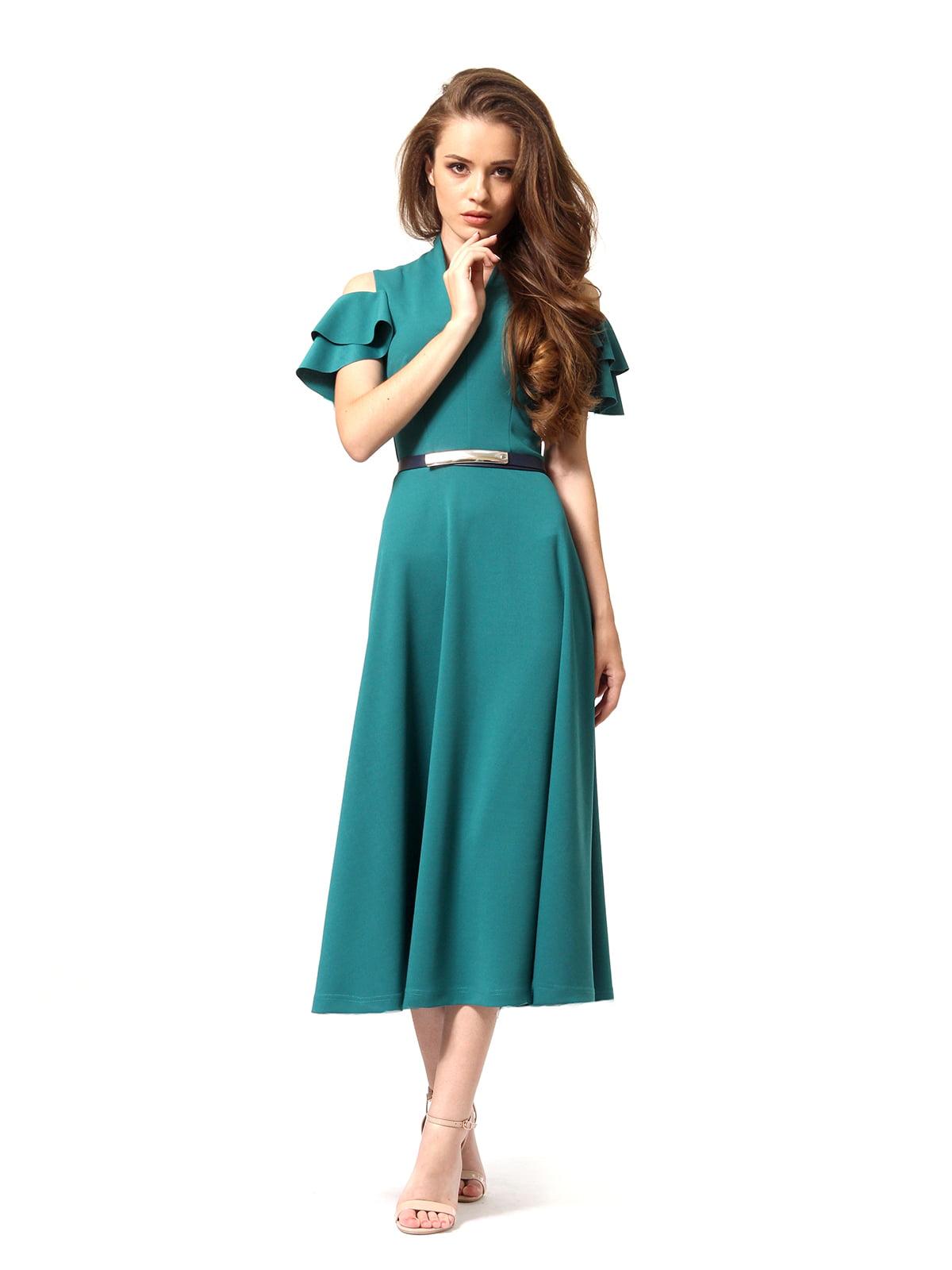 Платье зеленое | 4363450 | фото 4