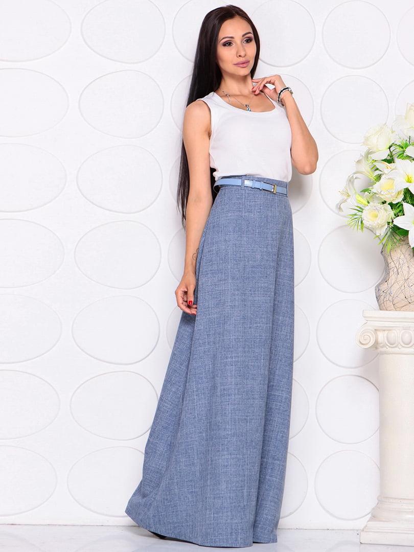Юбка цвета джинса | 4364098 | фото 3