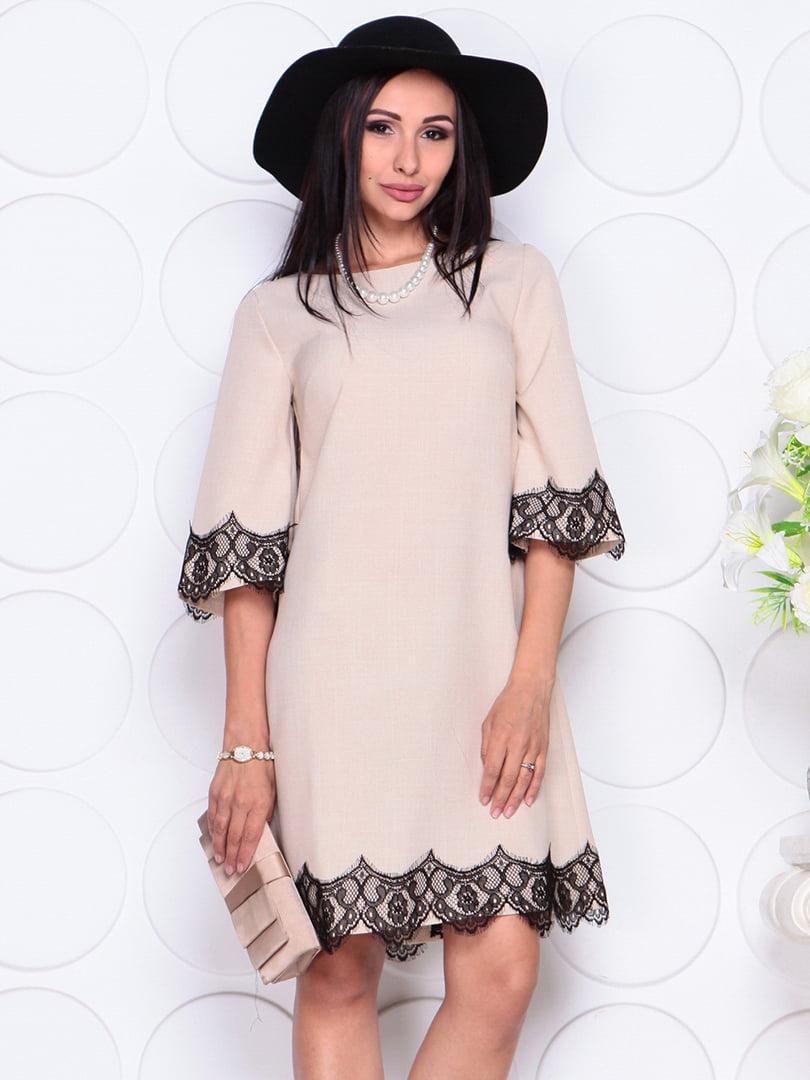 Платье бежевое | 4364138