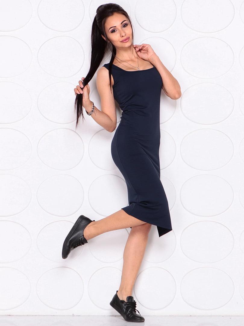 Платье темно-синее | 4364152