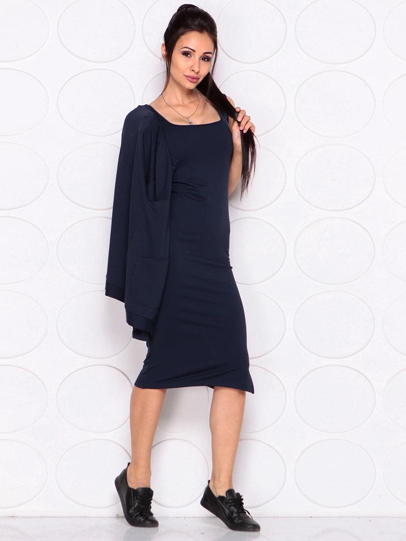 Платье темно-синее | 4364152 | фото 3