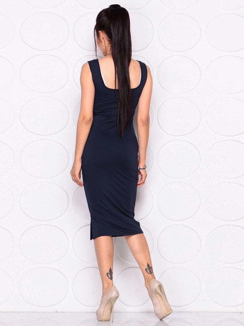 Платье темно-синее | 4364152 | фото 6