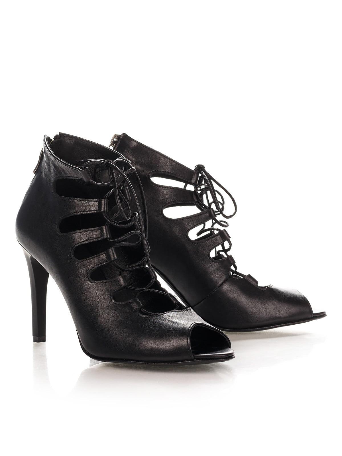 Туфлі з натуральної шкіри чорного кольору   4189844