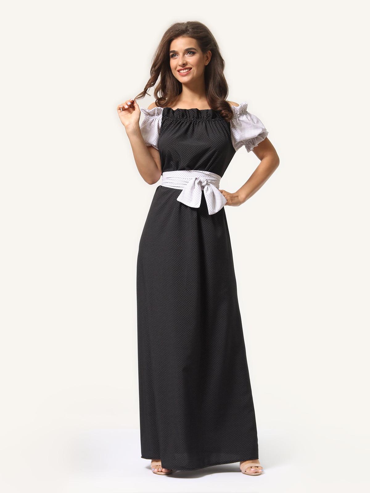 Сукня двоколірна в горошок | 4363480