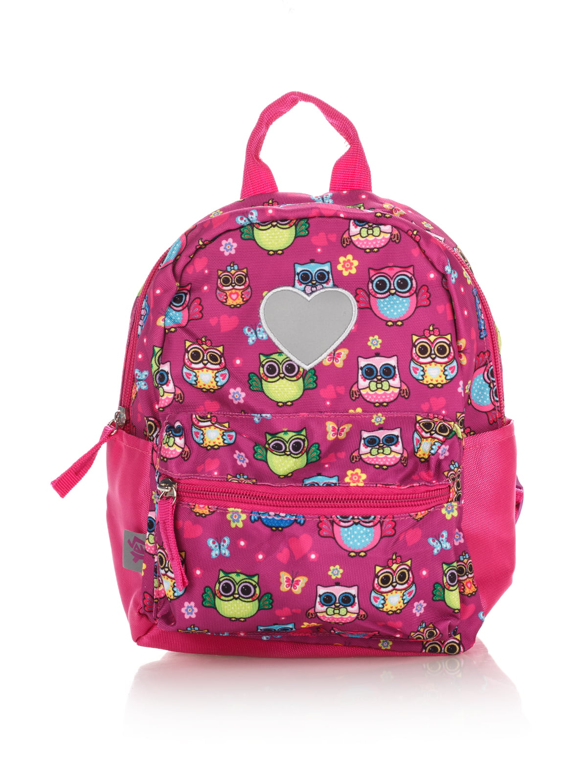 Рюкзак рожевий в принт | 4284719