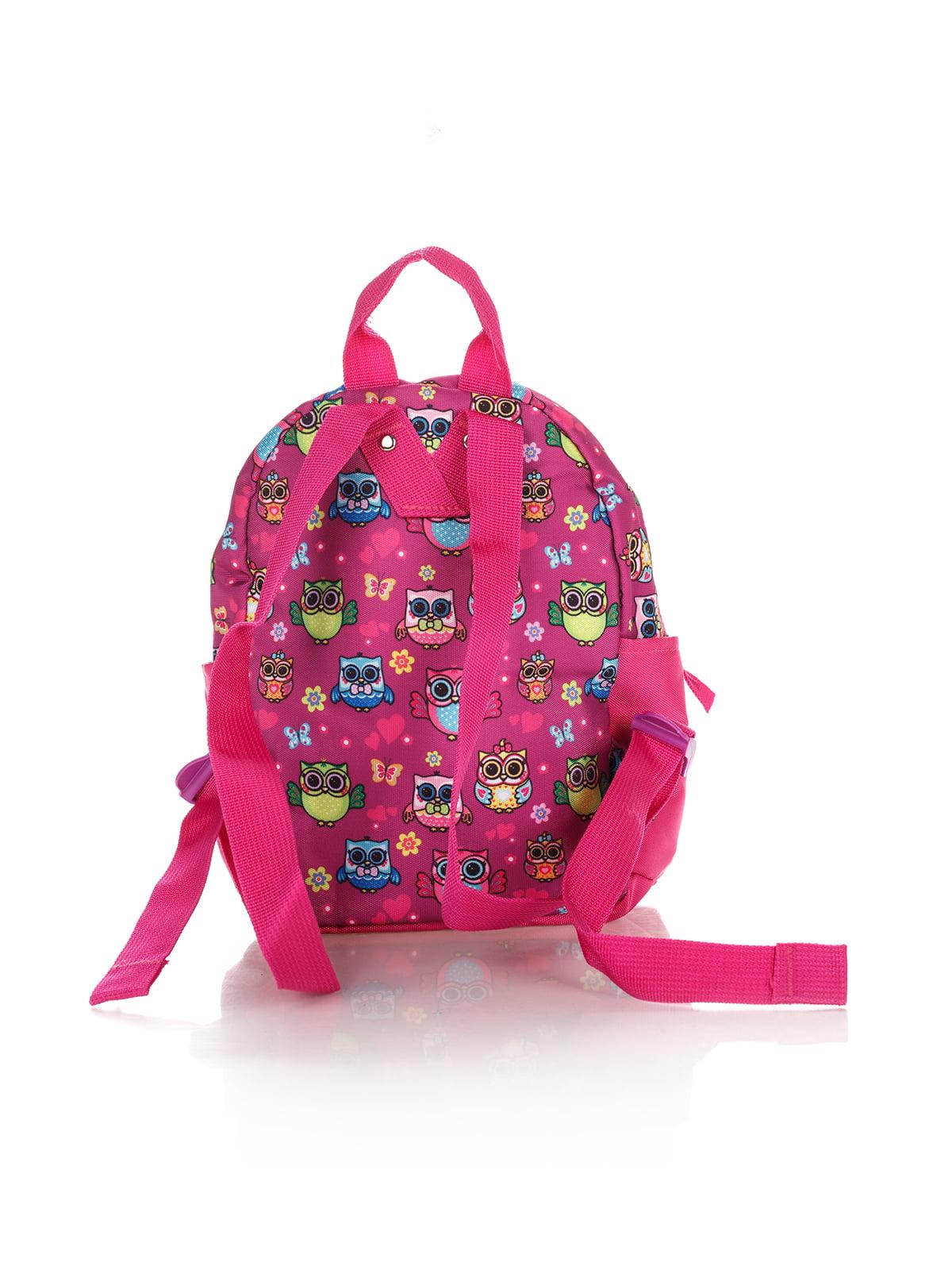 Рюкзак рожевий в принт | 4284719 | фото 2