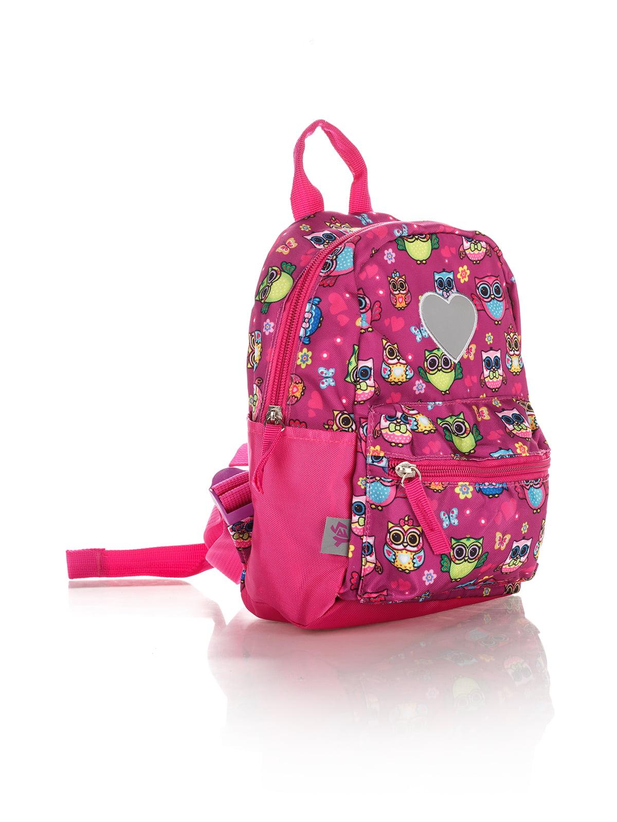 Рюкзак рожевий в принт | 4284719 | фото 3