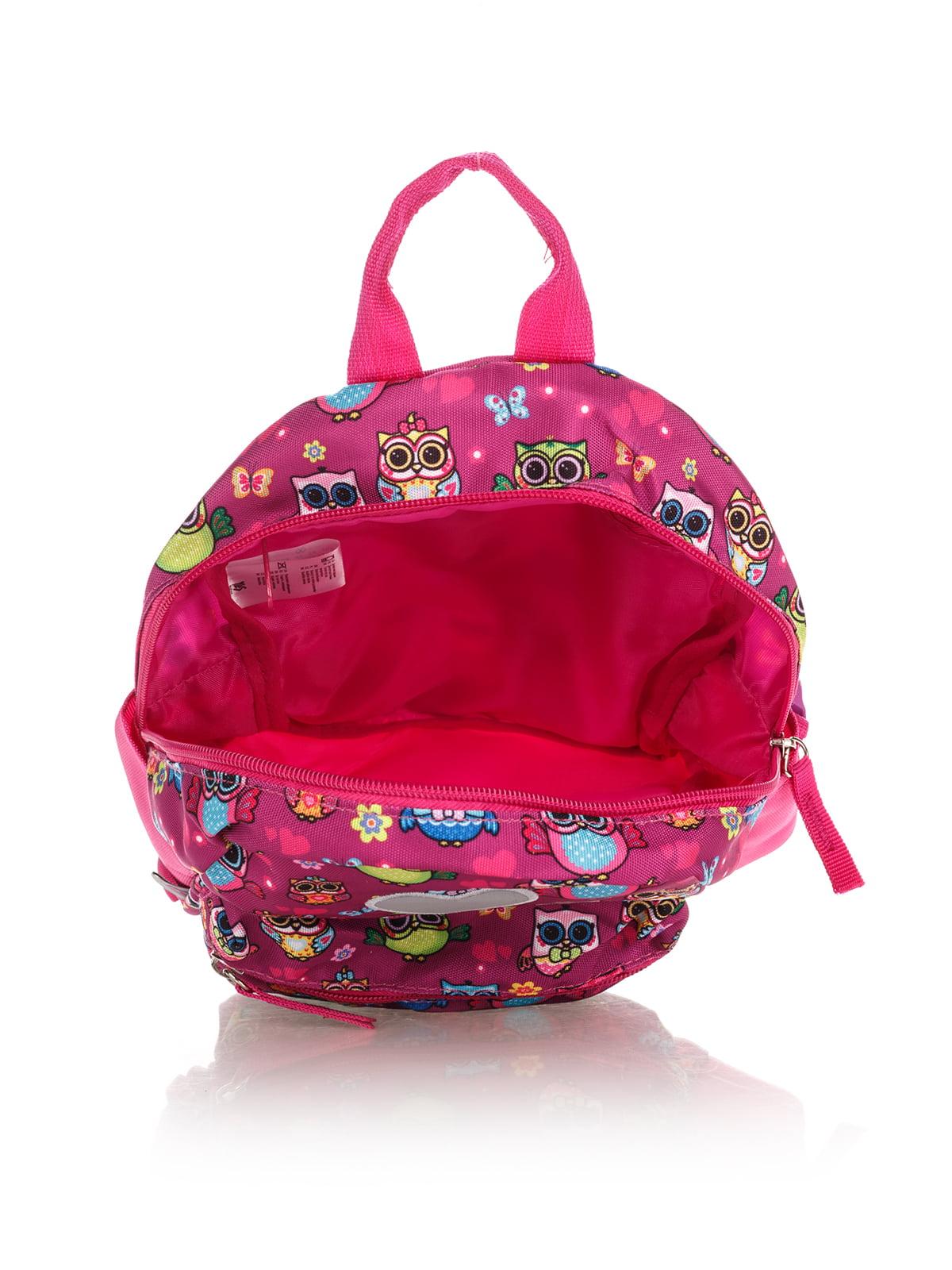 Рюкзак рожевий в принт | 4284719 | фото 4