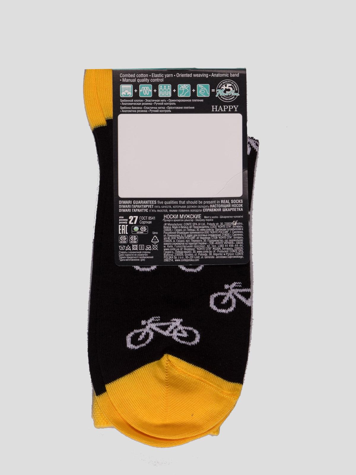Носки черные с рисунком | 4366582 | фото 2
