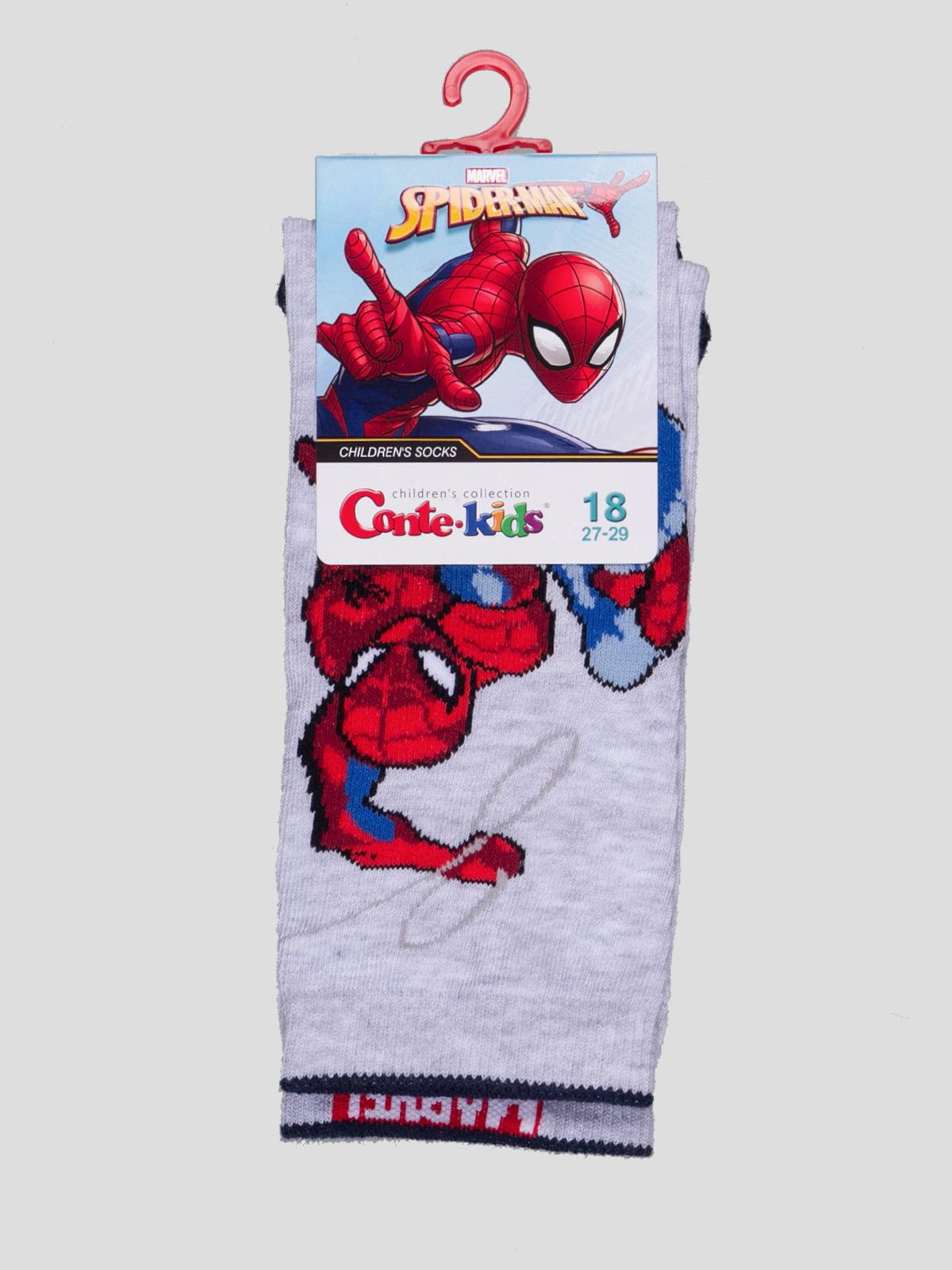 Шкарпетки сірі з малюнком   4366837