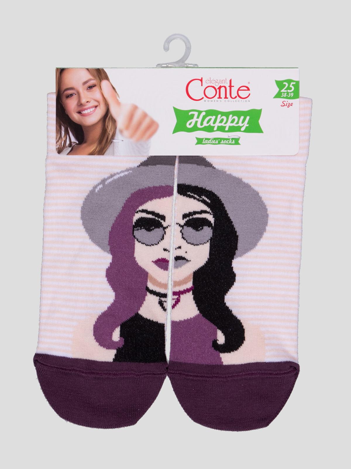 Шкарпетки в смужку з малюнком | 4366490