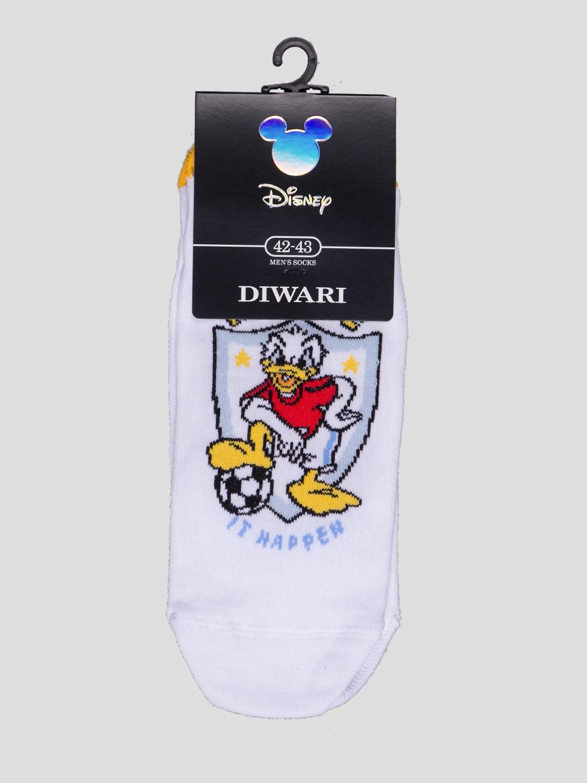 Шкарпетки білі з малюнком | 4366590