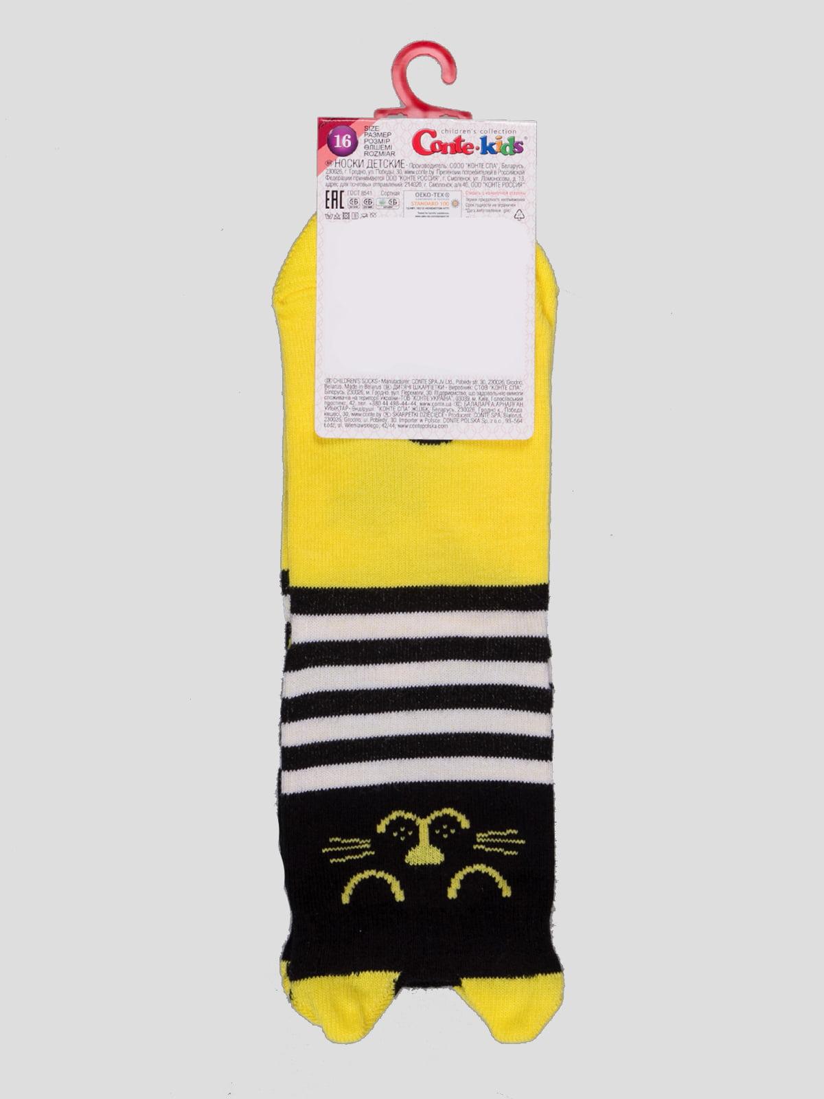 Шкарпетки в смужку з малюнком | 4366716 | фото 2
