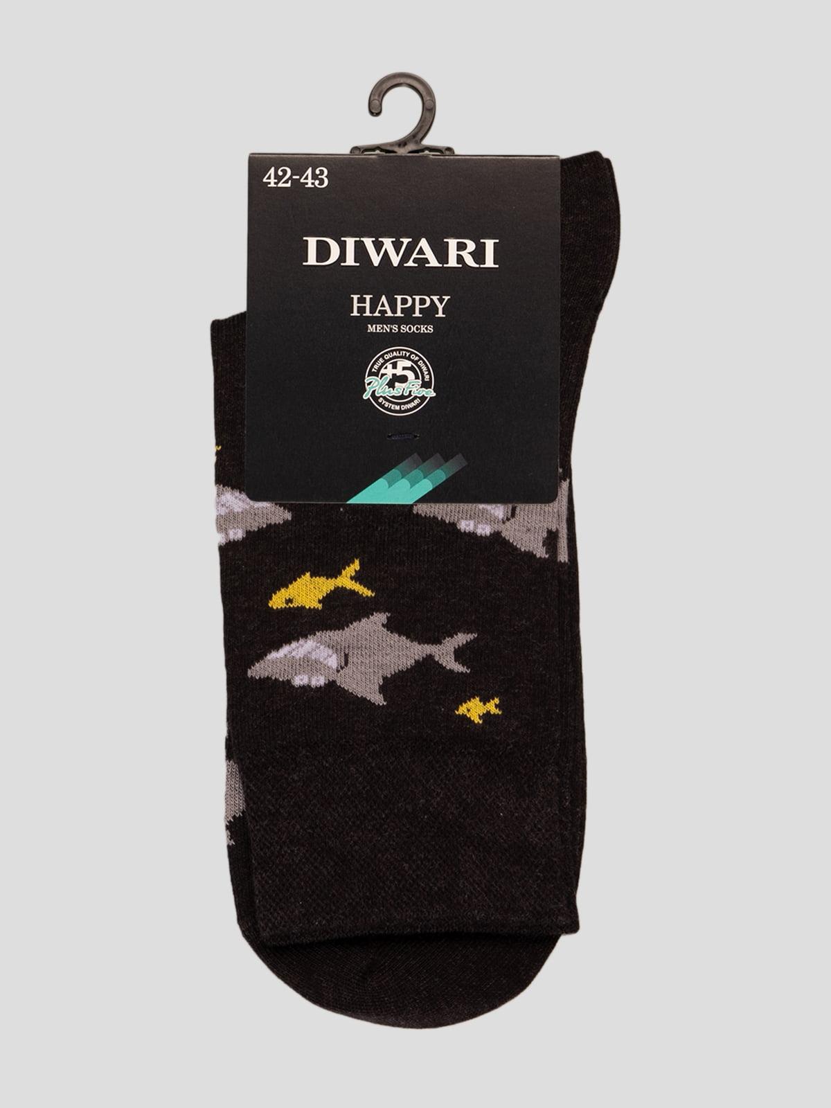 Шкарпетки чорні з малюнком | 4366583