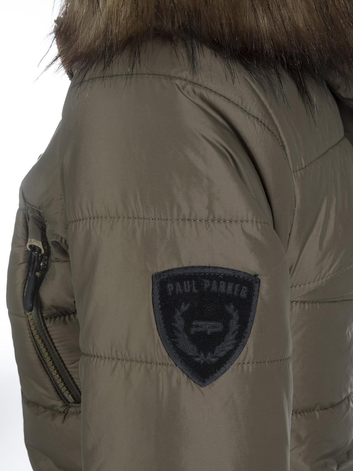 Пальто цвета хаки | 3797413 | фото 2