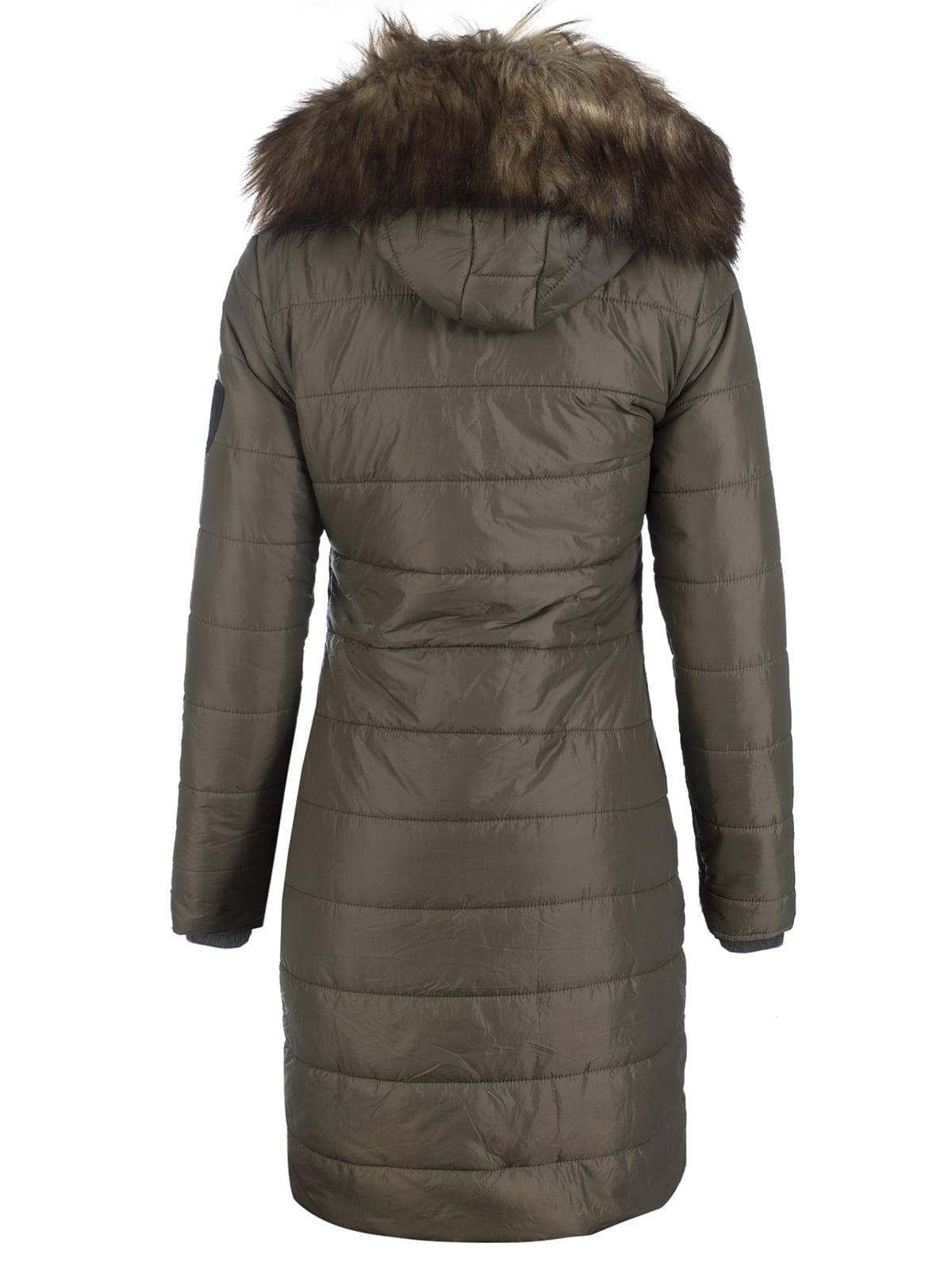 Пальто цвета хаки | 3797413 | фото 5