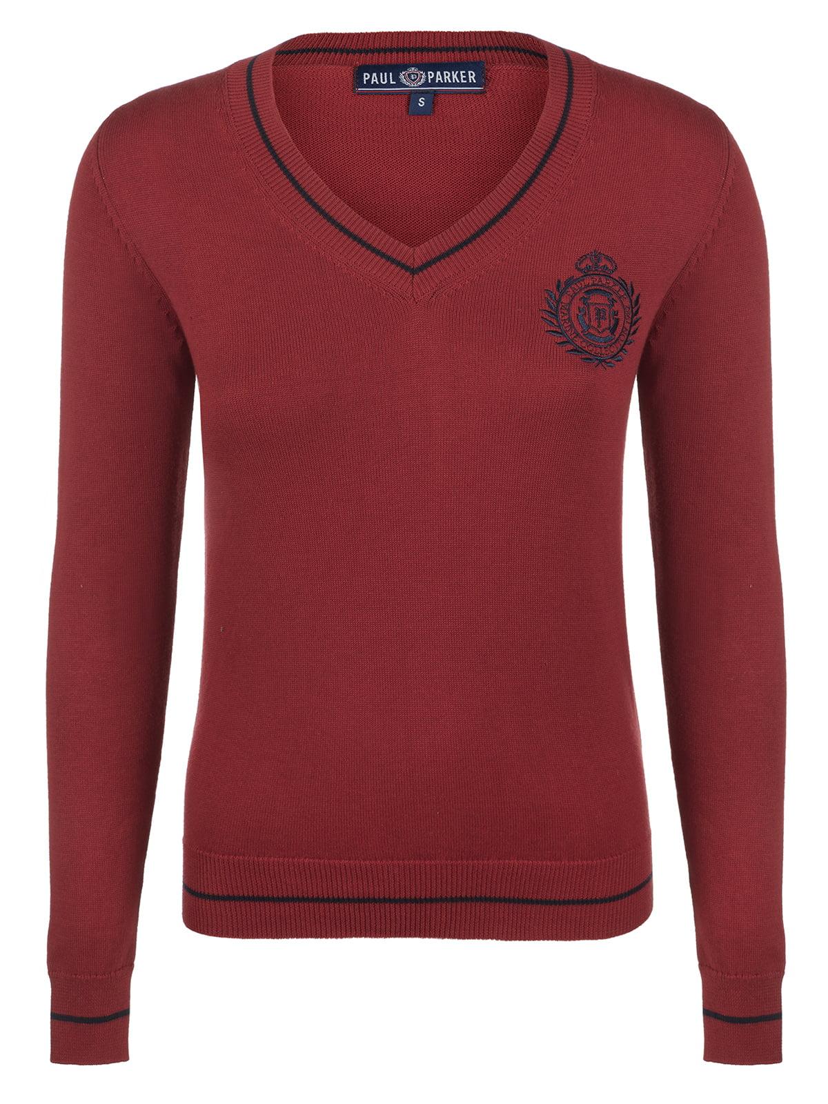 Пуловер вишневого кольору | 3797437