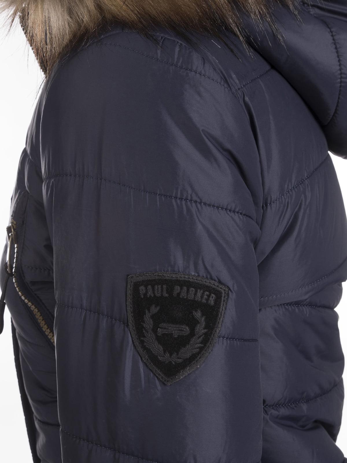 Пальто темно-синее | 3797411 | фото 2