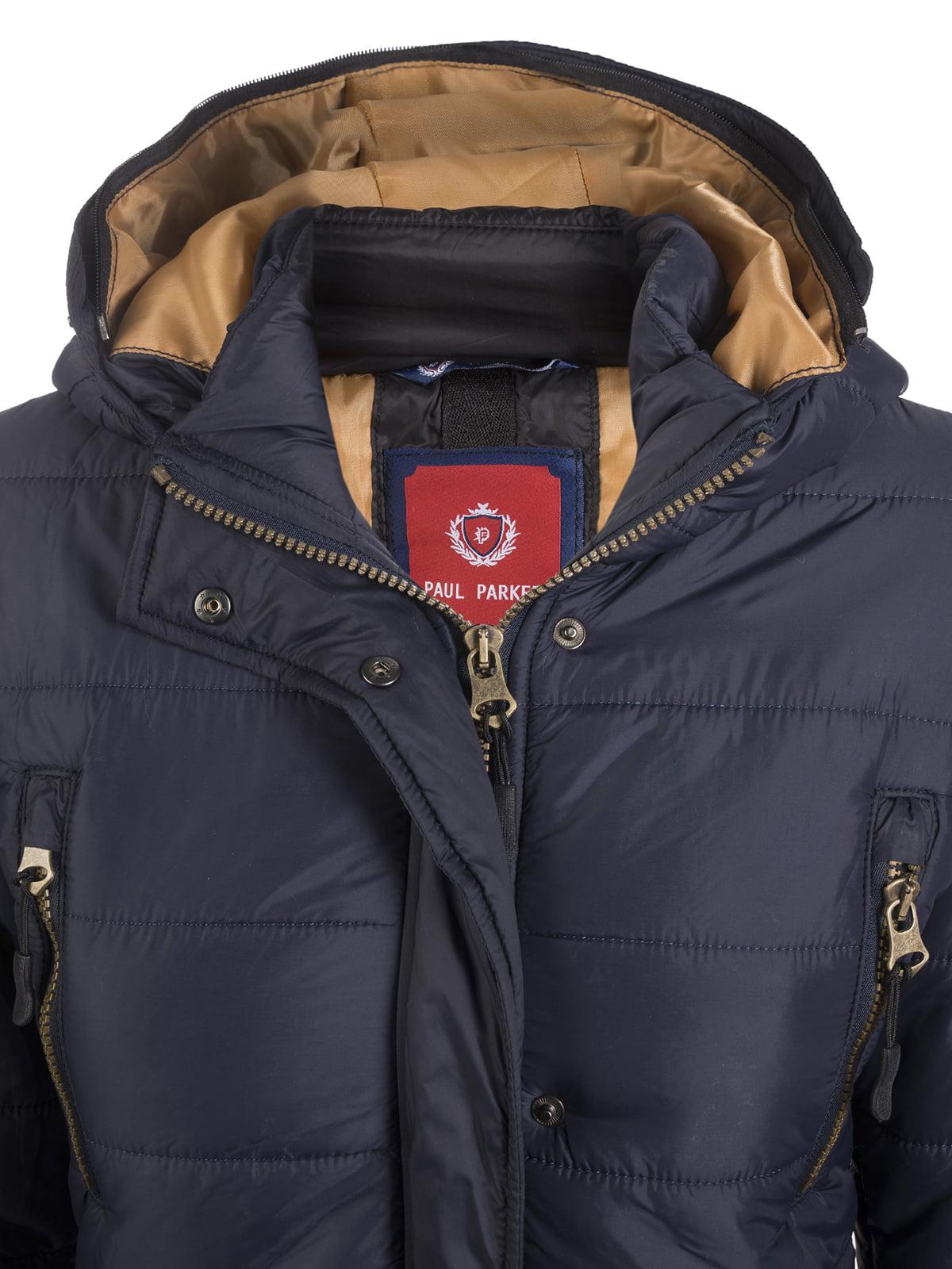 Пальто темно-синее | 3797411 | фото 3