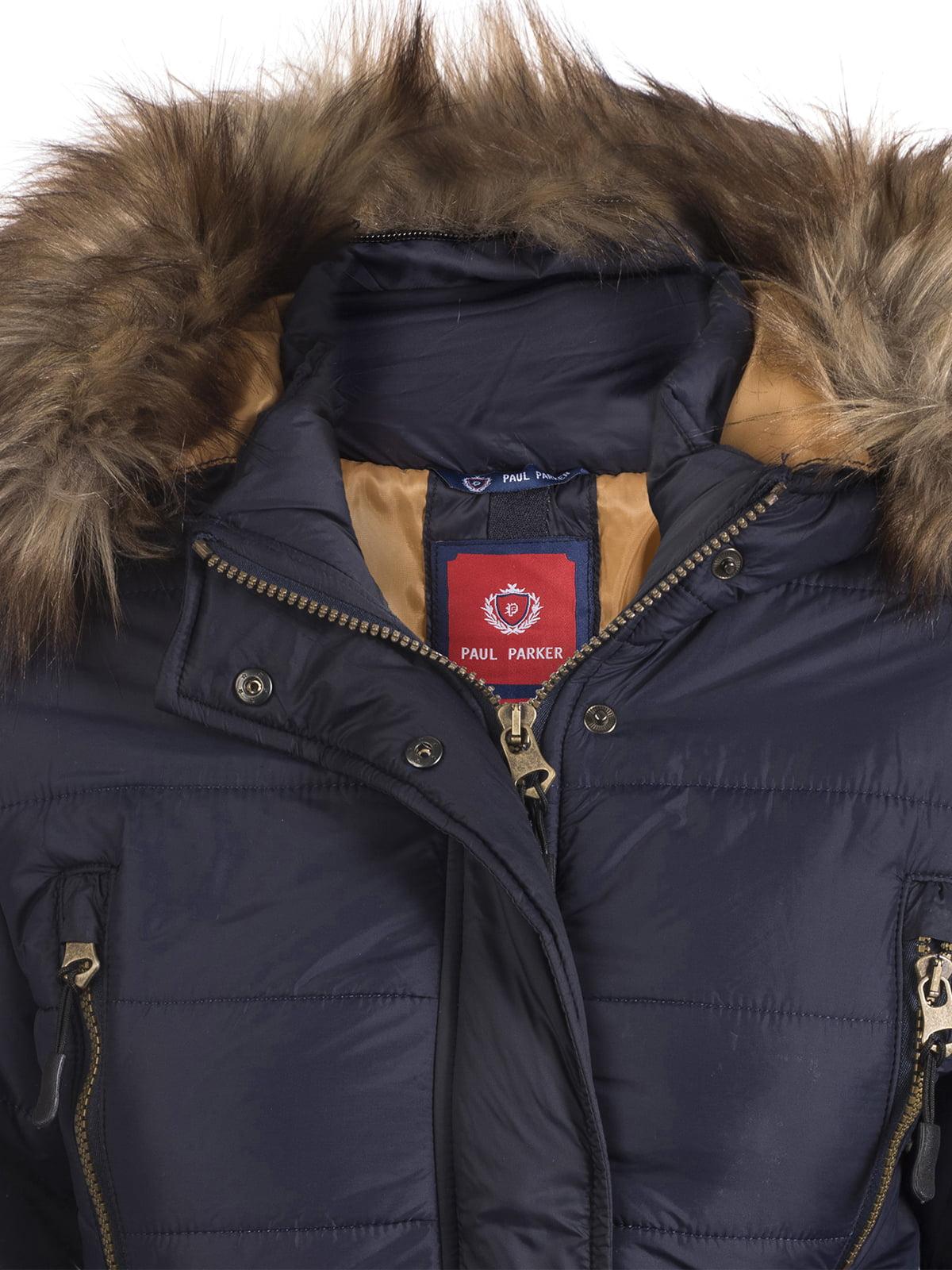 Пальто темно-синее | 3797411 | фото 4