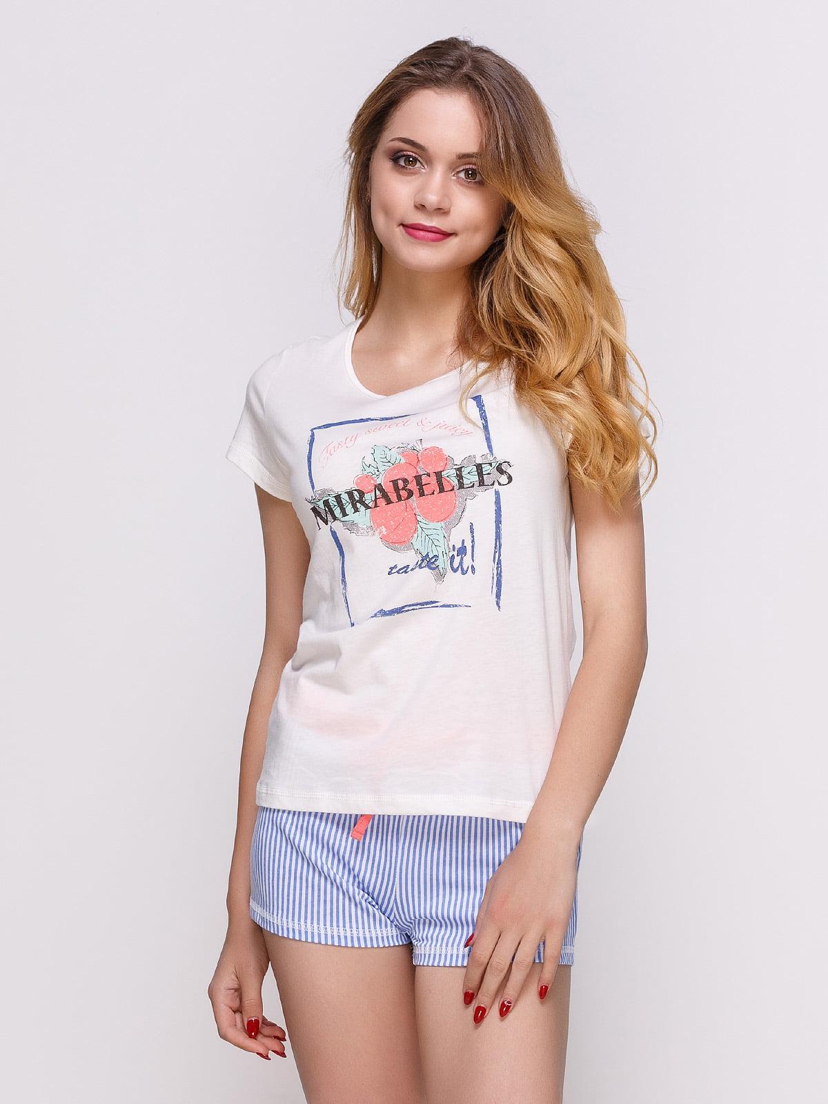 Пижама: футболка и шорты   4358940
