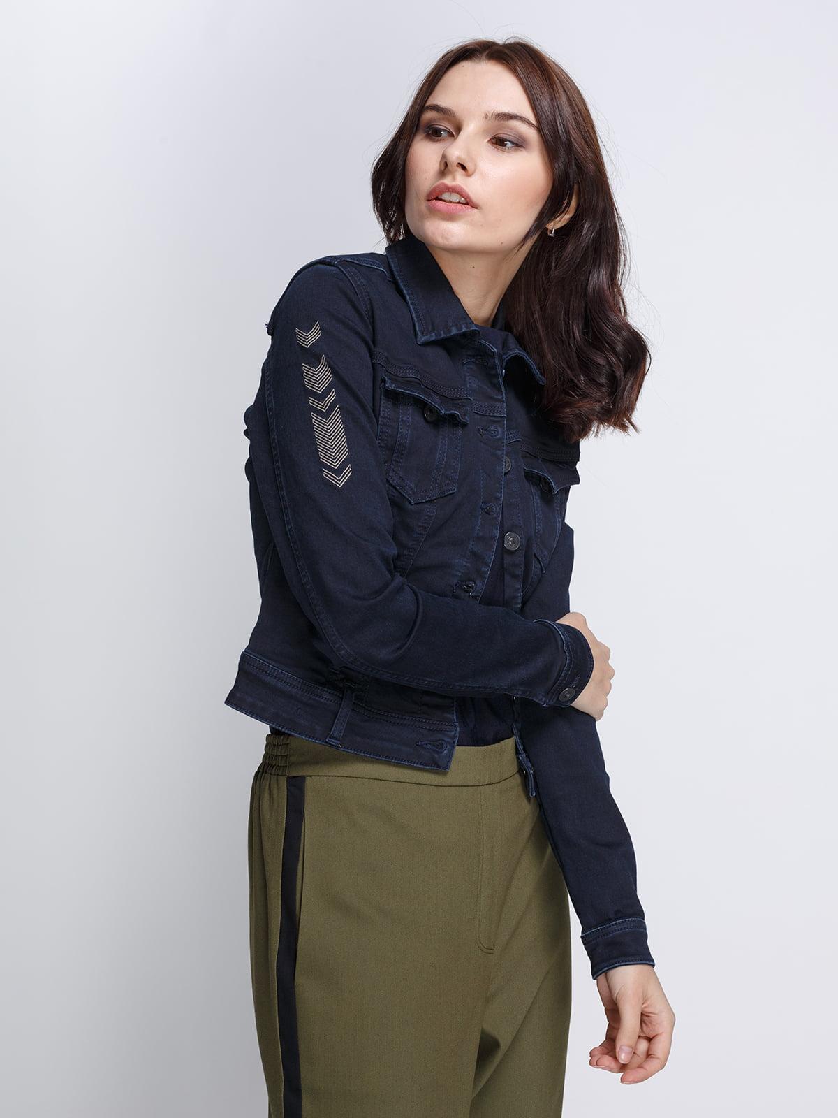 Куртка темно-синяя | 4347906 | фото 3