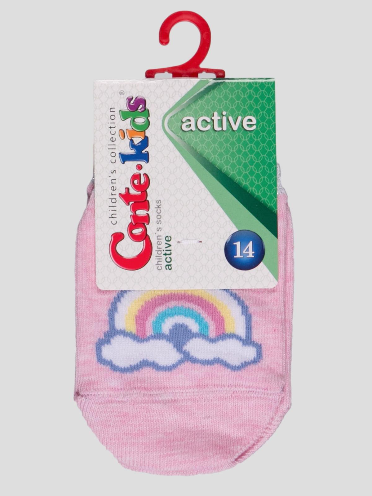 Носки светло-розовые с рисунком | 4366776