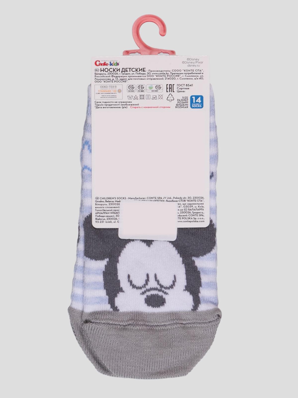 Носки в полоску с рисунком | 4366802 | фото 2