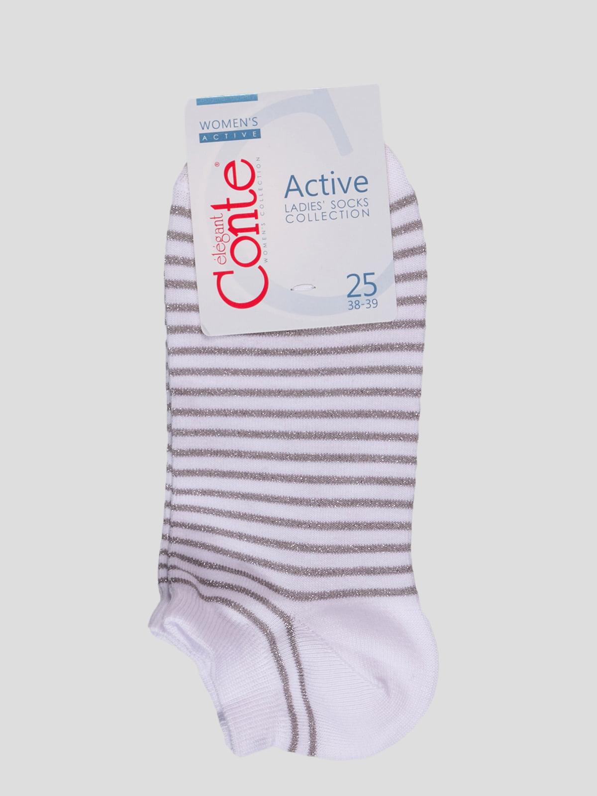 Шкарпетки білі в смужку | 4366502