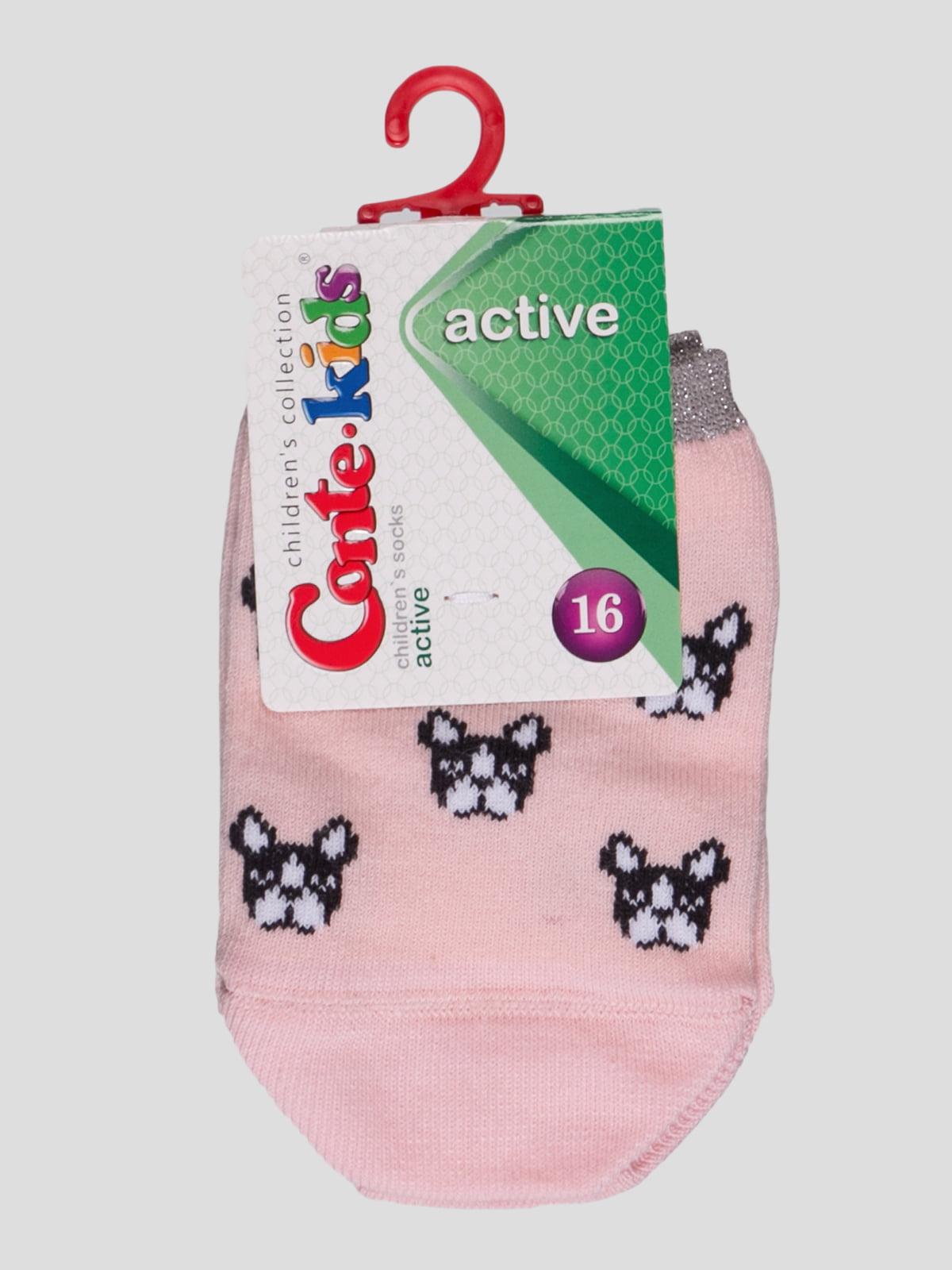 Носки светло-розовые с рисунком | 4366784
