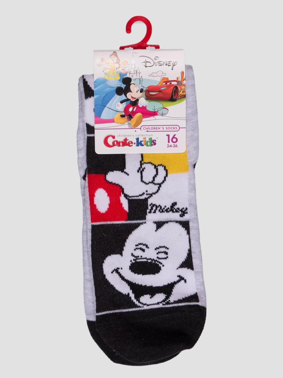 Шкарпетки чорно-сірі з малюнком   4366816