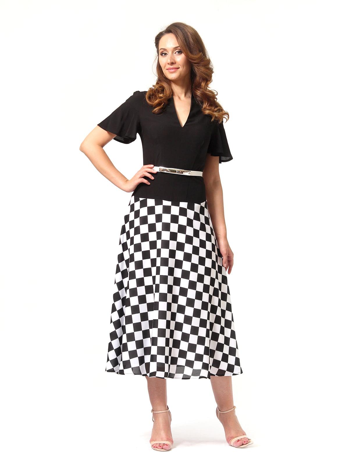 Сукня чорно-біла в клітинку   4372058