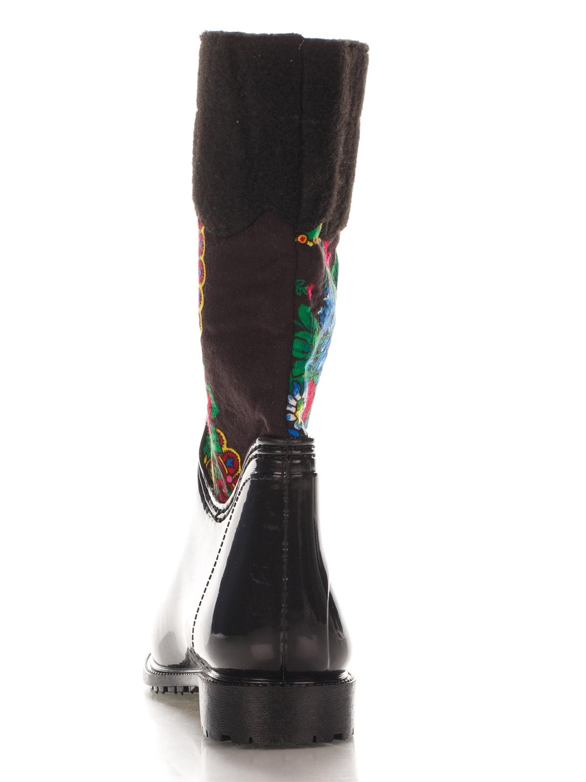 Сапоги черные с принтом | 4371879 | фото 3